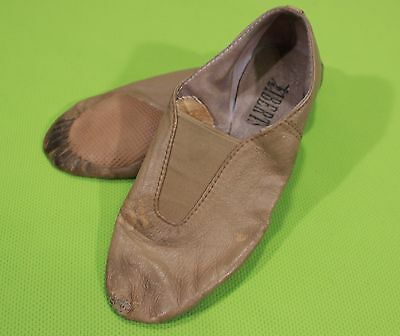 Liberts Leather Jazz Shoes Size 3.5 AD Slip On Style 243 Tan