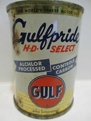 Vintage Gulfpride H-D Select Oil Can