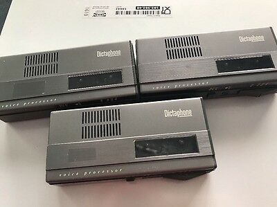 Set Of 3 Dictaphone Voice Processor Mini Cassette Recorders Model 1244