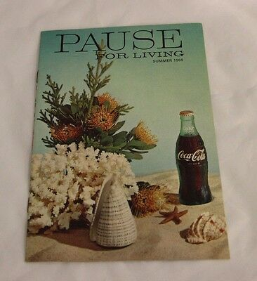 PAUSE FOR LIVING Magazine Summer 1969 Coca Cola Coke Free Shipping