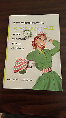 WRINGER WASHER INFO, 1958 SEARS, KENMORE, Owners Manual MINT CONDITION