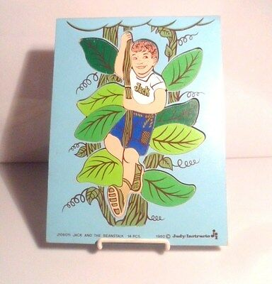* 1980 Wood Puzzle JACK And The BEANSTALK by Judy Instructo # J106011 -- 14pcs