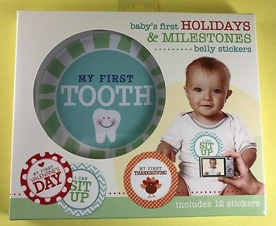 New Baby's First Holiday & Milestones Baby Boy Girl Belly Stickers Photo Prop