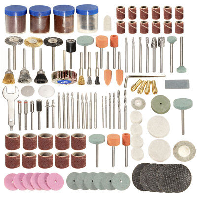 166pcs Grinding Polish Cutting Accessory Bit Set For 1/8 Inch Rotary Tools