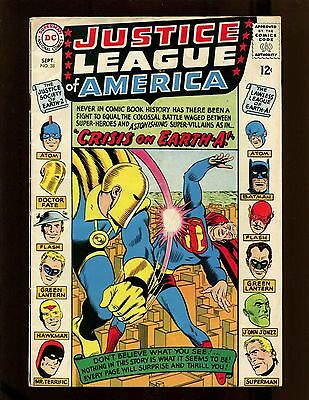 Justice League of America #38 VG+ Sekowsky JSA X-Over Crisis on Earth-A