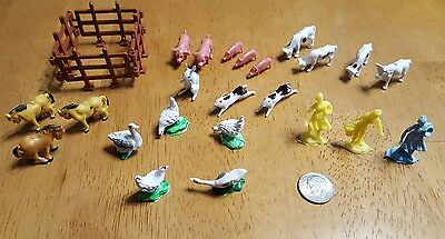 Vintage Teeny Tiny Farm Animal 24 Pc Set Free Shipping