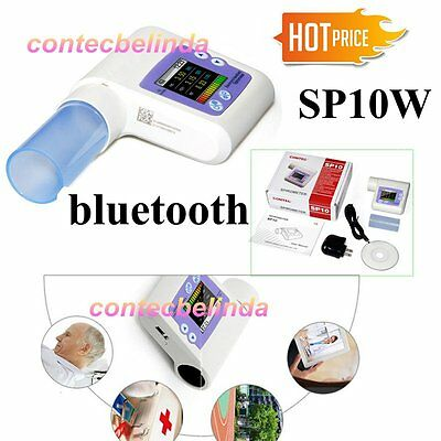 SP10W Bluetooth Digital Hand-held Spirometer, Lung Volume, Free Software,CONTEC