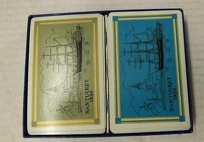 Vintage Nuntucket, Ma  1830  Whaling Museum Playing Cards Double Deck Set
