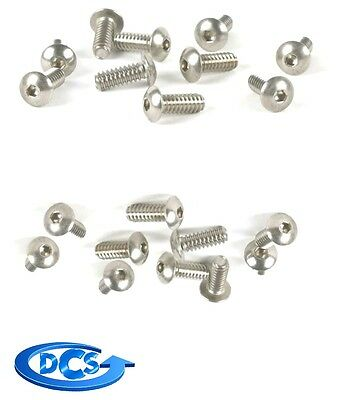 "(Qty 50) 8-32 x 1/4"" Button Head Socket Cap Screw Stainless Steel Screws-NEW"