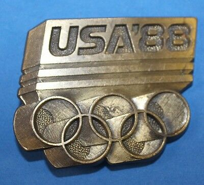brass USA Olympic  88  games belt buckle