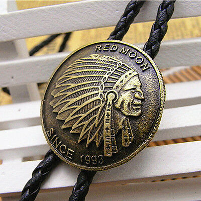 New Western Mens Retro Bronze Indian Bolo Neck Tie Gifts Wholesale
