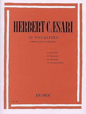 50 vocalises vowelisation / HERBERT CAESARI (RICORDI)