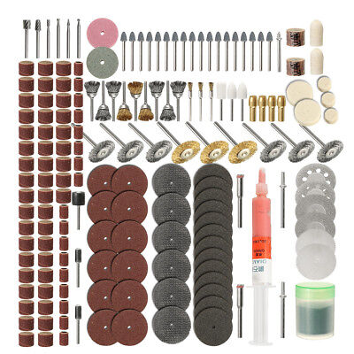 217pcs Rotary Grinding Sanding Polishing Tool Accessory Kit Set For Dremel