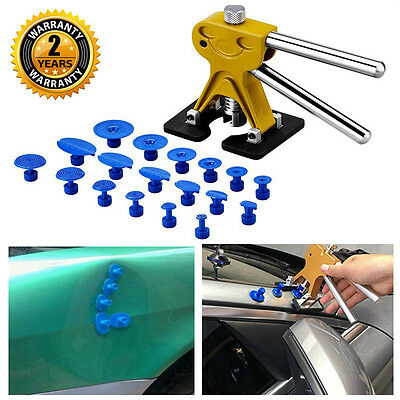 Paintless Dent Lifter Puller + 18x Tabs Car Body Repair Tool Hail Removal Kit