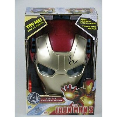 ROBERT DOWNEY JR Hand Signed Iron Man 3 Mask  + Photo Proof
