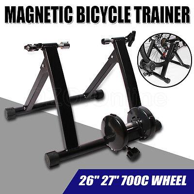 Indoor Bicycle Cycling Magnetic Trainer Rollers Bike  Exercise Stand Home Gym