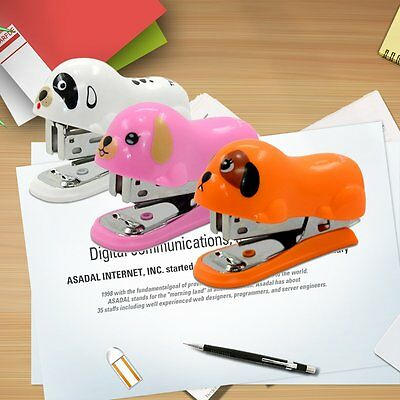 8182 Tenwin Cartoon Mini Stapler Set Office School Supplies Book Sewer B@