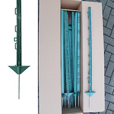 20 x 3FT Green Plastic Electric Fence Posts with Double Footplate