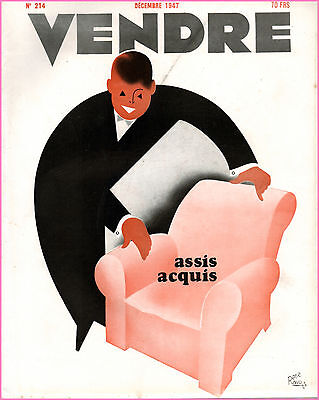 ▬►Marketing Publicité  -- Vendre N° 214 (Decembre 1947) --  Cover René Ravo