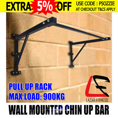 Lazar Fitness Functional Pull Up Chin Up Bar Rack Strength Wall Mounted Portable