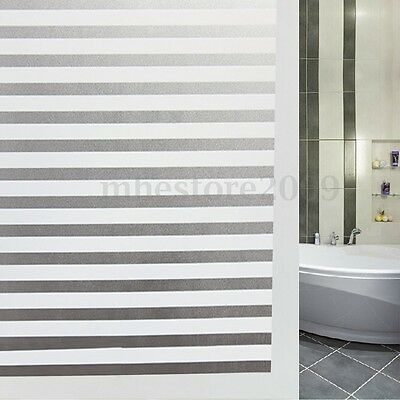 Waterproof Privacy Frosted Glass Window Film Striped Sticker Home 45x150cm New