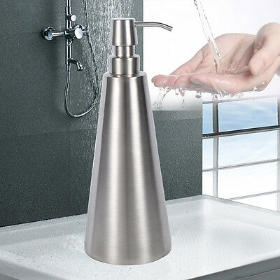 800ml Large Capacity Stainless Steel Pump Soap Dispenser Bathroom Container AF
