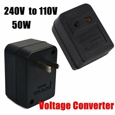 220V To 110V 50W AC Power Voltage Converter Adapter Transformer For US/USA  #V6