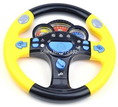 New Steering Wheel Game Toy Infant Pretend Baby Children Backseat Car Driver