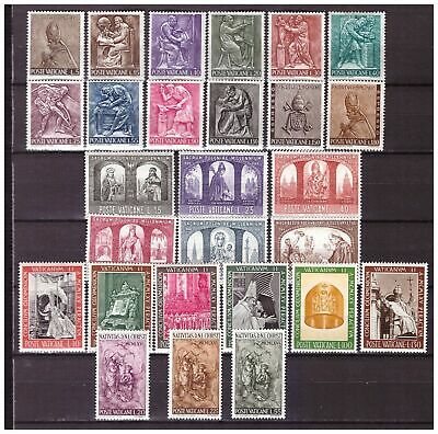 s15530) VATICANO MNH** 1966, Complete Year set 27v