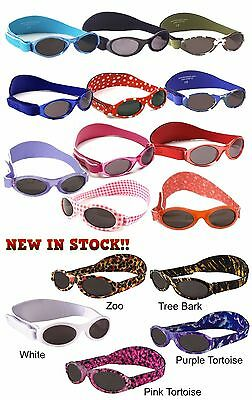 NEW Baby Banz Adventure Sunglasses 100% UVA/ UVB protection (0-2 Years) + Cases!