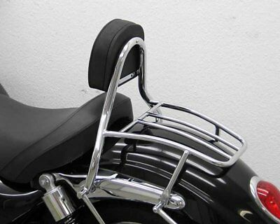 Sissy Bar with pad and carrier driver, Triumph Rocket III Roadster 2010-