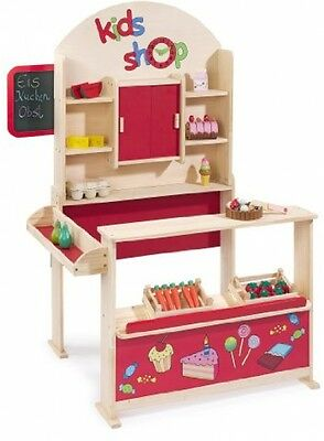 Play Shops For Children Wooden Shop Role Play Kids Toy Howa New
