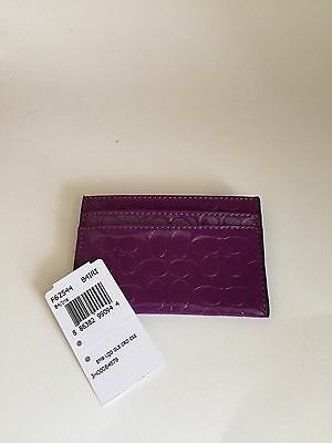 Coach Embossed Liquid Gloss Credit Card/ID Case F62544 Iris NWT