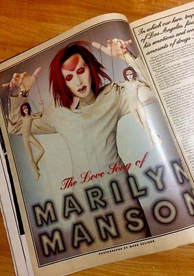 Lot of 2 vintage full Marilyn Manson Rolling Stone cover issues 1997-1998 RARE