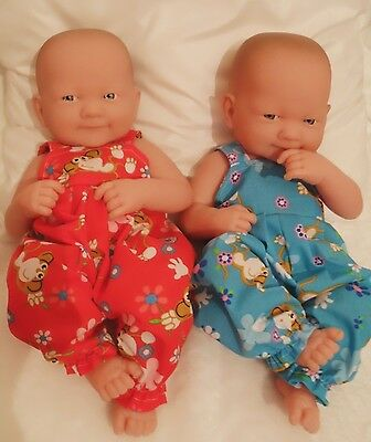 """14"""" Dungarees  Doll Clothes Handmade Fit Little Baby Born First Annabell 34Cm"""