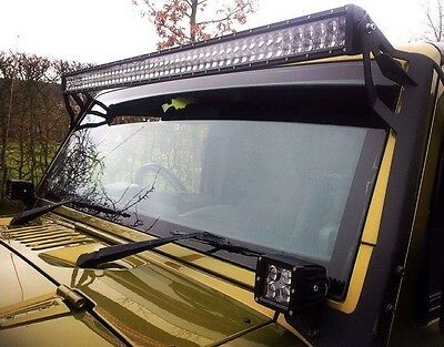 Jeep Wrangler 2007-2017 Jk 52'' Led Light Bar Brackets Uk Seller