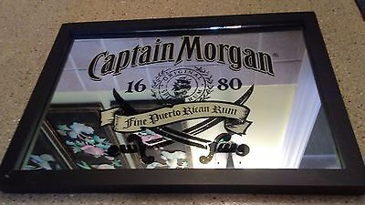 Captain Morgan Rum Mirror Man Cave Sign by Official Crew Gear 13 x 18