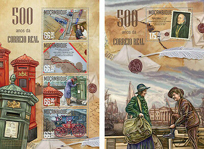 Mozambique 500th Anniversary of Royal Mail Britain Robert Wallace MNH stamps set