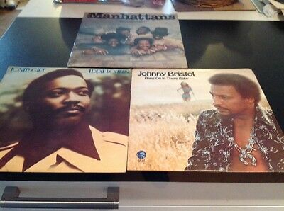 Eddie Holman- The Manhattans + Johnny Bristol- 3 Modern Soul Lp's Ex.Cond.