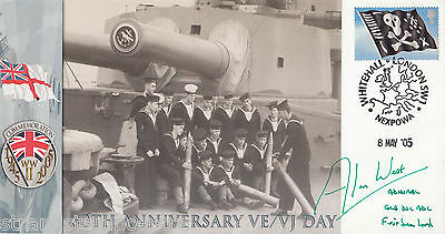 """60th Anniv of VE/VJ Day - Scott Military """"Special"""" - Signed Admiral ALAN WEST"""
