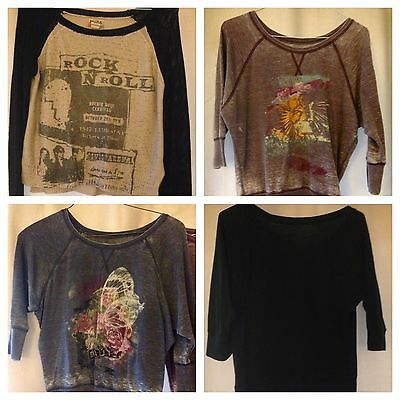 Womens Tops Large Name Brand Lot Of 4 Shirts Junior Girl Awesome Spring Deal