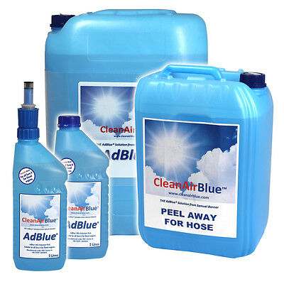 CleanAirBlue AdBlue for Peugeot Diesel Cars from 1.5L - 1000L