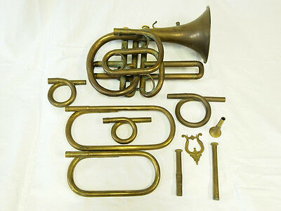 Husson & Duchêne Cornet Stolzel pre-1848 with tuning bits / Museum instrument