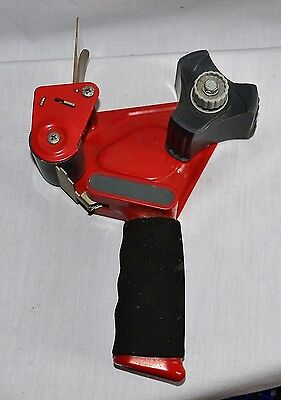 """Scotch Tape 3M - 2"""" Packing Tape Dispenser - Red w/ padded handle"""