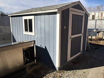"Outdoor Tuff Shed 8 X 10 X 94"" H Gray Exterior Wooden"