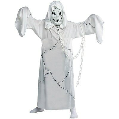 Cool Ghoul Costume Kids Scary White Ghost Halloween Fancy Dress