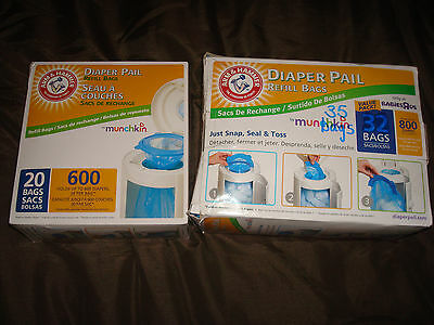 Munchkin Arm & Hammer Diaper Pail Snap, Seal and Toss Refill Bags, 41 Total