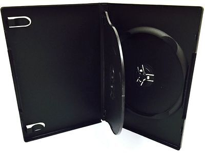 10 New Premium Black Triple Multi 3 Discs DVD CD Cases, Tray, Standard 14mm, TM