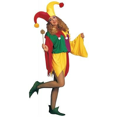 King's Jester Court Fool Medieval Costume Halloween Fancy Dress