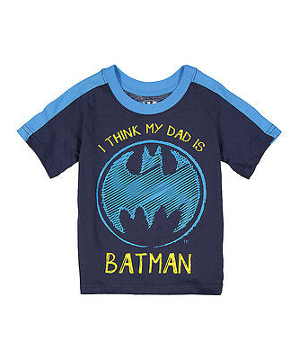 DC Comic Toddler Boys Graphic Short Sleeve Tee My Dad is Batman 2t 3t 4t nwt